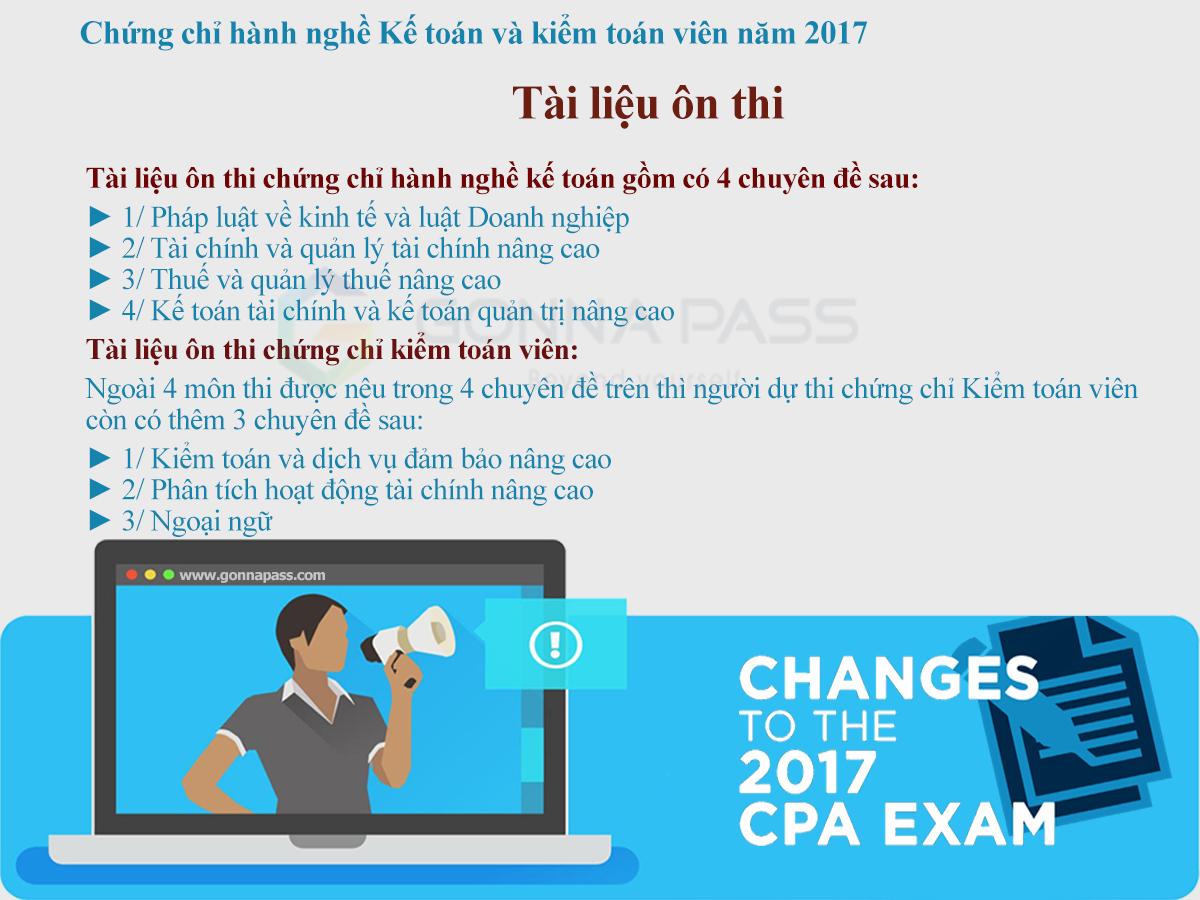 Tài liệu ôn thi Kiểm toán viên và Kế toán viên hành nghề do Bộ Tài Chính soạn thảo năm 2017