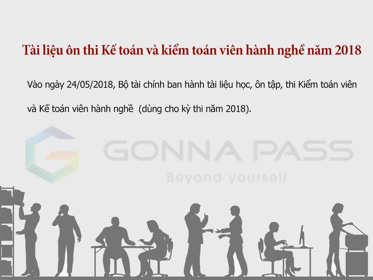 Tài liệu ôn thi chứng chỉ hành nghề kế toán – kiểm toán năm 2018