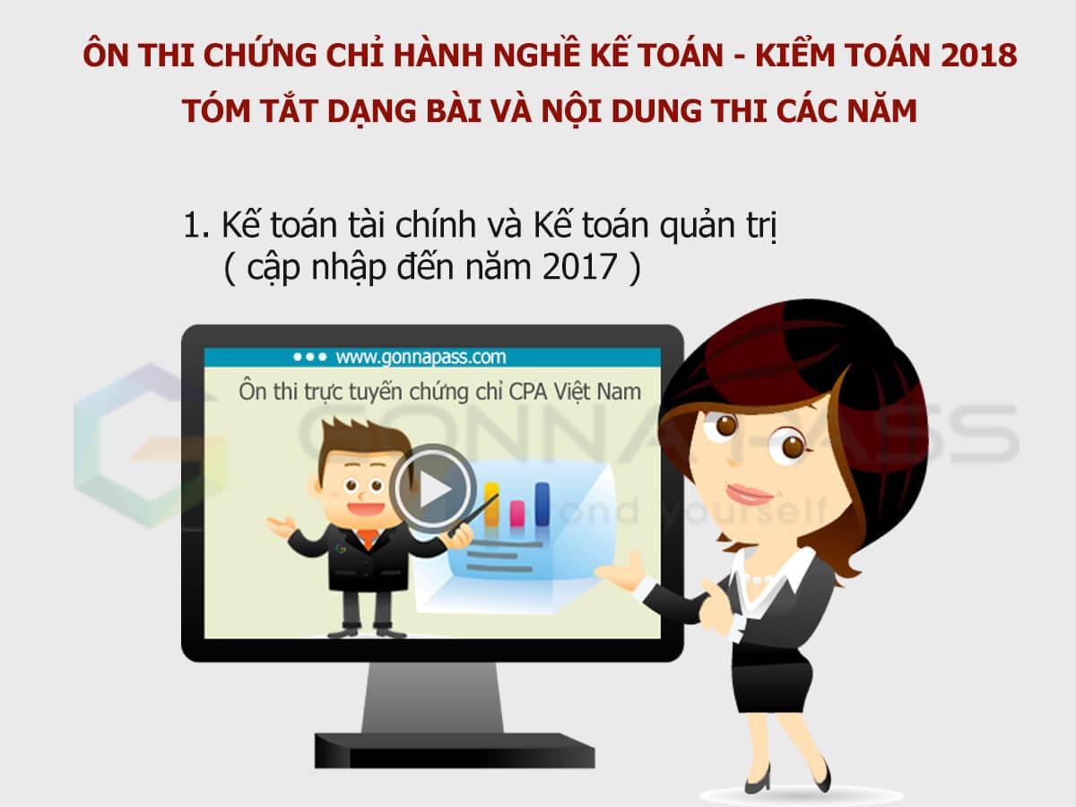 [Ôn thi CPA 2018] Tóm tắt dạng bài và nội dung thi các năm trước môn Kế toán tài chính và Kế toán quản trị ( cập nhập đến 2017)