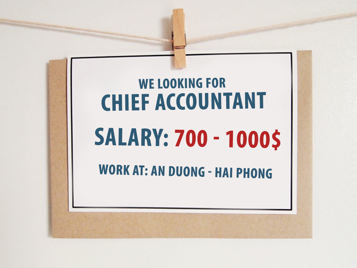 [ Recruitment news ] Chief Accountant in An Duong, Hai Phong