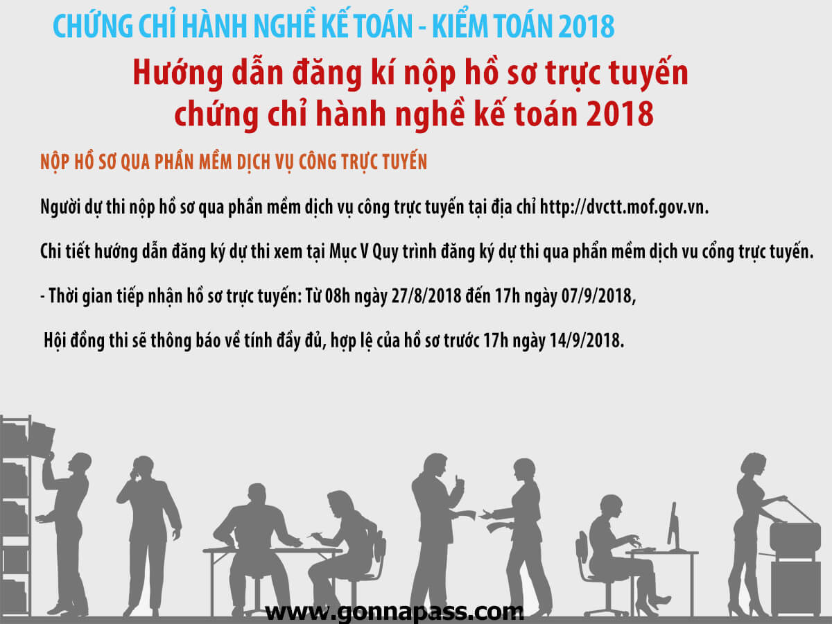 [ CPA 2018 ] Hướng dẫn đăng kí nộp hồ sơ trực tuyến chứng chỉ hành nghề kế toán 2018