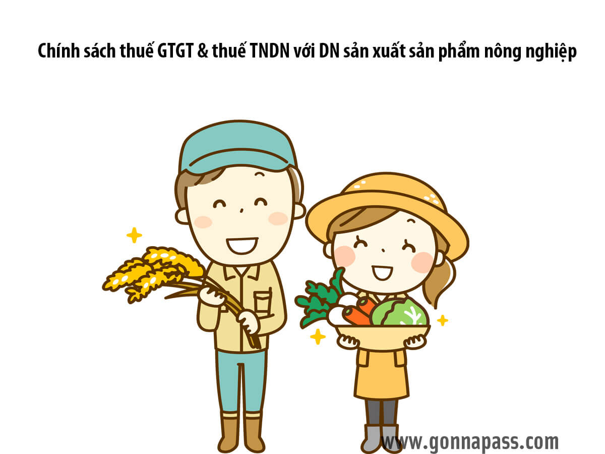 Chính sách thuế GTGT và thuế TNDN với DN sản xuất sản phẩm nông nghiệp