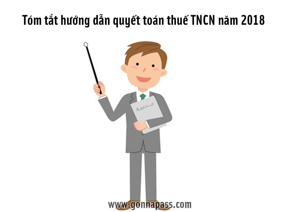 Công văn hướng dẫn quyết toán thuế TNCN 2018