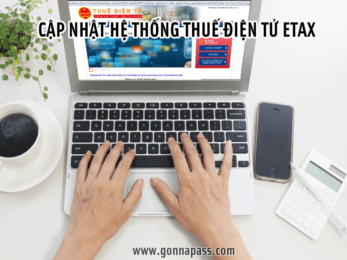 Cập nhật hệ thống thuế điện tử Etax