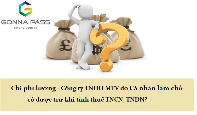 Chi phí tiền lương Công ty TNHH Một thành viên do cá nhân làm chủ