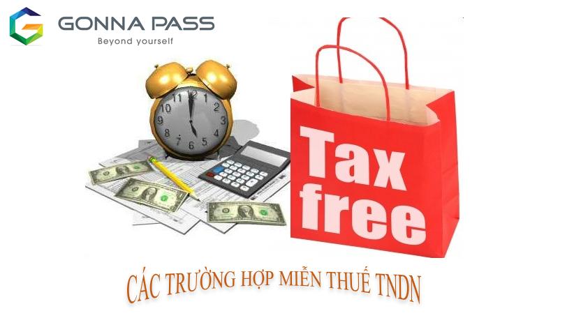 Các trường hợp miễn thuế TNDN