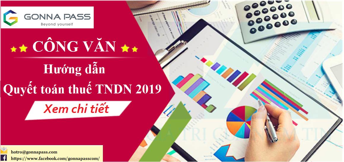Công văn hướng dẫn quyết toán thuế TNDN 2019