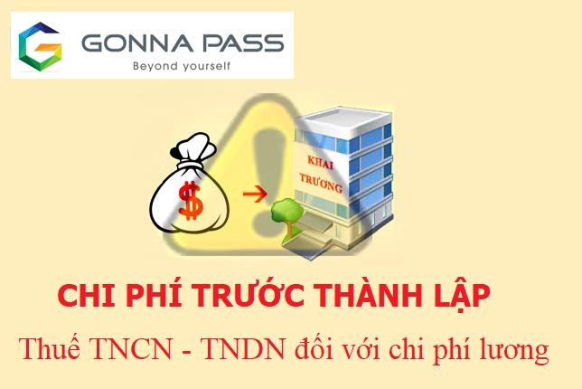 Công ty nước ngoài thanh toán chi phí lương trước thành lập cho Công ty Việt Nam