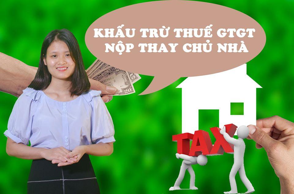 Khấu trừ thuế GTGT nộp thay chủ nhà