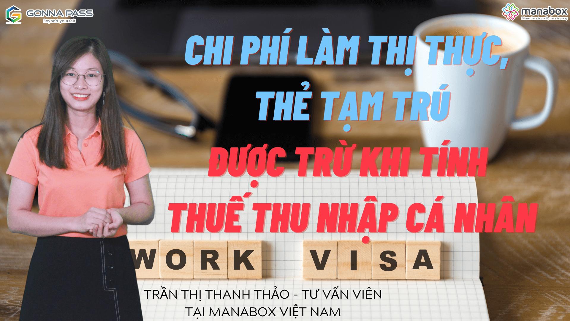 Chi phí làm visa, thẻ tạm trú cho lao động nước ngoài được trừ khi tính thuế TNCN