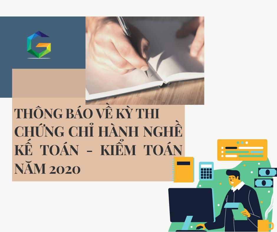 Thông báo về kỳ thi kế toán viên, kiểm toán viên năm 2020