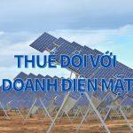 thuế với kinh doanh điện mặt trời
