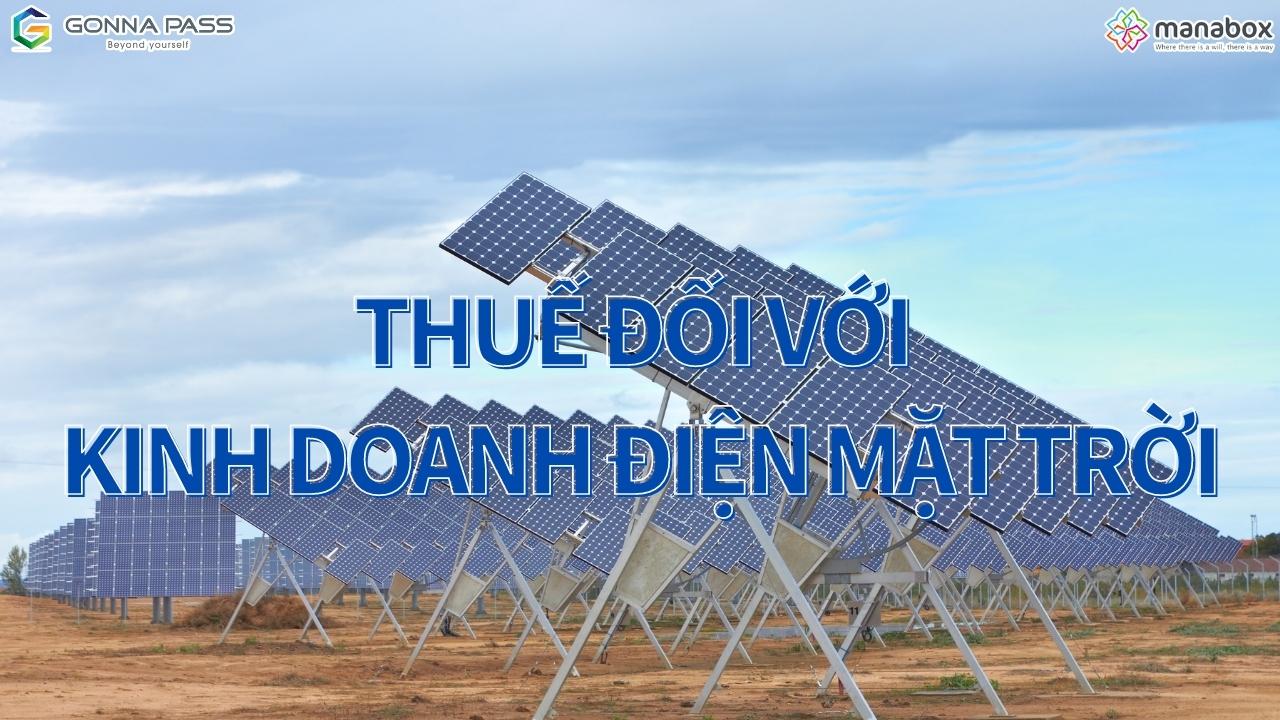 Thuế đối với kinh doanh điện mặt trời