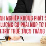 Doanh nghiệp không phát sinh trả lương có phải nộp tờ khai khấu trừ thuế TNCN